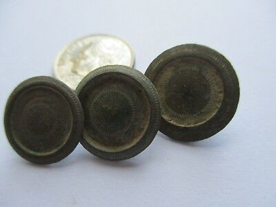BUTTON 17th CENTURY ANTIQUE SET OF 3 BRONZE BUTTONS SEWING #774