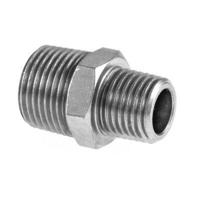 "Reducing Nipple M x M BSP Hydraulic / Pneumatic Pipe Fittings BZP 1/8"" To 1/2"""