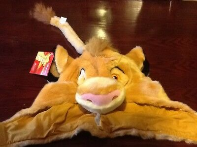 Disney Store Exclusive The Lion King Simba Beanie Hat Cap Ears Cosplay Tags NEW