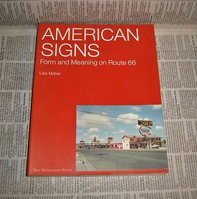 Route 66 American Signs illustrated book Lisa Mahar illustrated soft cover 2002