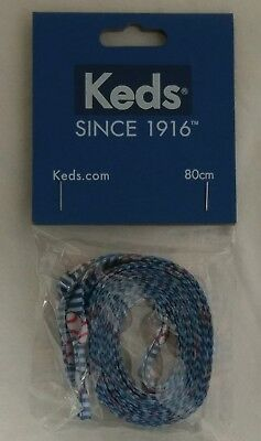 Keds Shoe Laces New Baseball Red White Blue Stripe 80cm 31 Inches