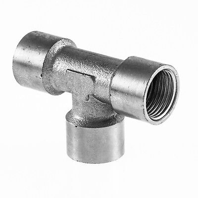 "Equal Tee F x F x F BSP Hydraulic / Pneumatic Pipe Fittings BZP 1/8"" To 1/2"""
