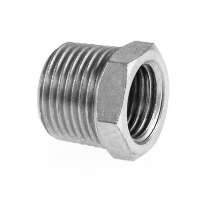 """Reducing Bush Male x Female Hydraulic / Pneumatic Pipe Fittings BZP 1/8"""" To 1/2"""""""