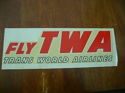 Vintage Twa Transferable Decal 1950's