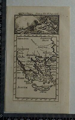 1776 Pluche - Original Antique Map of Grecia (Greece) - Ionia