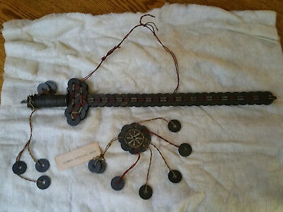 Antique Chinese Cerimonial Coin Sword--