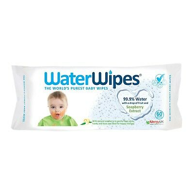 Water Wipes with a drop of Fruit  and Soap berry Extract 60 wipes - Multibuy
