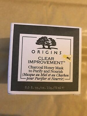 Origins Clear Improvement Charcoal Honey Mask To Purify & Nourish Brand New 75Ml