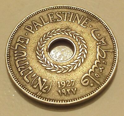 1927 Palestine 20 Mils Coin - Attractive Palestinian Coin - Good Detail - KM# 5
