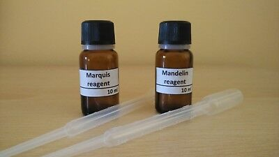 MARQUIS + MANDELIN REAGENT + PIPETTES - 10 ml - DRUG TEST