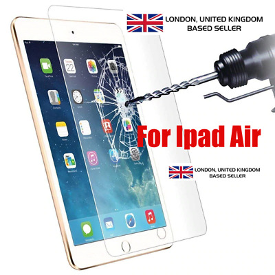 Real Genuine Tempered Glass Film Lcd Screen Protector For  Ipad Air 1 & 2
