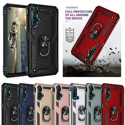 New for Samsung Galaxy S9 S9+ S8 S8+ Magnetic Shockproof Ring Holder Clear Cover