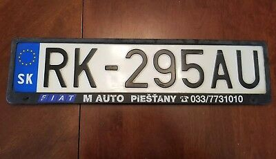 Slovakia License Plate With Frame