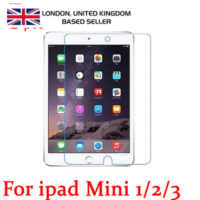 Real Tempered Glass Film Screen Protector For Apple iPad Mini 1/2/3 UK Seller