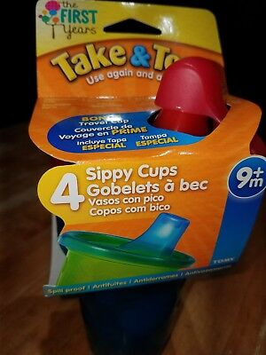The First Years Take 'n Toss Drink Cups W/Bonus Travel Cap