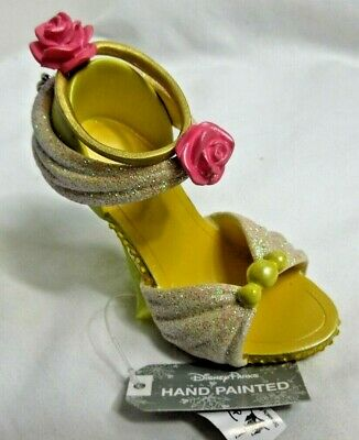 Disney Parks Princess  Belle Beauty & Beast Runway Shoe Ornament Christmas New