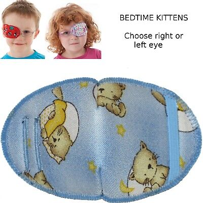 Kids RIGHT Eye Patch to treat Amblyopia - Lazy Eye BEDTIME KITTENS