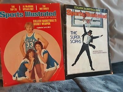 Larry Bird, Magic Johnson Sports Illustrated Magazine First Cover