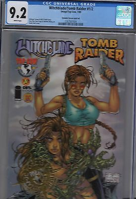 Witchblade / Tomb Raider # 1/2 Dynamic Forces Gold Foil edition CGC 9.2 Comic