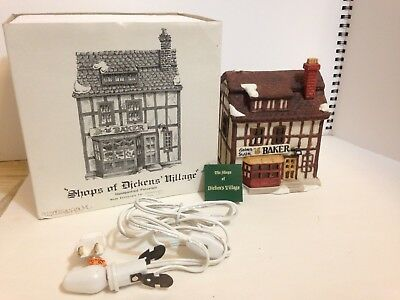 """Dept 56 Shops of Dickens Village """"The Golden Swan Baker"""" retired with box"""