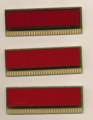 (3) Archer 276-1201 .75 x 3 inch 4 digit led display 7 seg segment Common anode