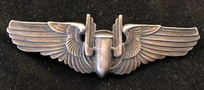 WWII US Army Air Force Aerial Bomber Wings ~ Sterling .925 USAAF - 3""