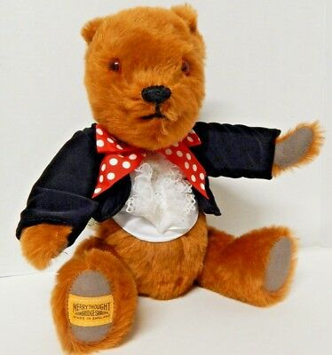 Merrythought Teddy Bear made in England Limited Edition Jointed Tuxedo Red Bow