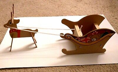 Home Depot Kids Workshop Sled with Reindeer with Pin