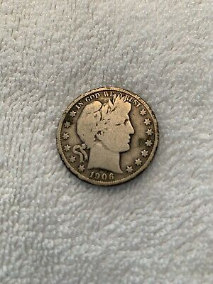 1906-S Silver Barber Half Dollar Better Date