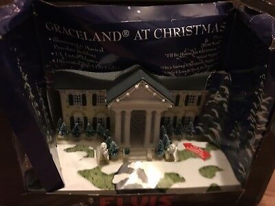 Elvis Presley Graceland At Christmas House Lights And Music USED!