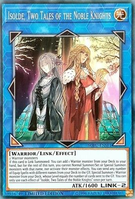 Yugioh! Isolde, Two Tales of the Noble Knights - SOFU-ENSE1 - Super Rare - Limit