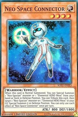 Yugioh! Neo Space Connector - SOFU-ENSE3 - Super Rare - Limited Edition Near Min