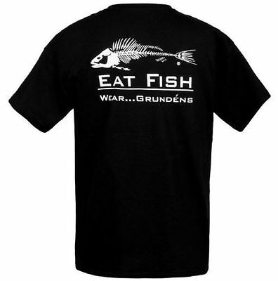 Grundens Eat Fish T-Shirt Größen sizes M-3XL neu Angeln Helly Hansen Guy Cotten