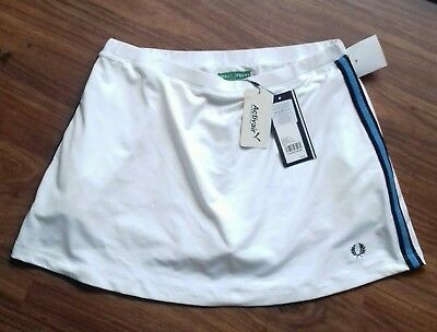Fred Perry Womens Tennis Plaited White Skirt with short  Size 8 . EUR /36 size S