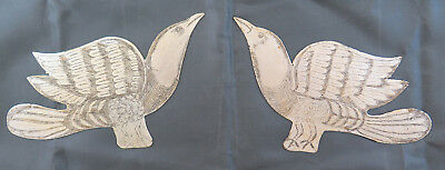 Pair Of Frieges Decorative Shaped Like Bird Engraved On Row Hand Ch 13 86 87