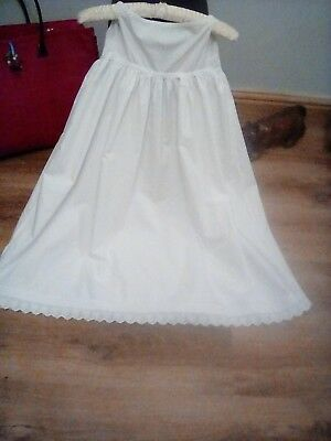 victorian baby petticote .long .with embroidery anglaise hem hand worked