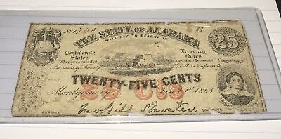 25 Cent Confederate Note