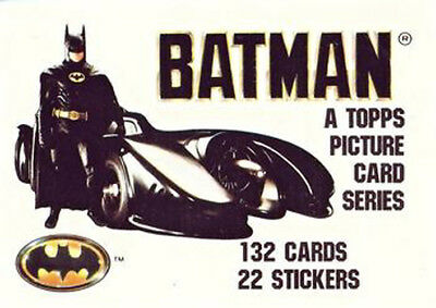 Batman (1989) Topps Trading Card Set - Series 1 & 2 - Complete w/ 44 Stickers