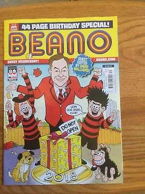 BEANO COMIC 80th BIRTHDAY ISSUE GUEST EDITED BY DAVID WALLIAMS 25th July issue