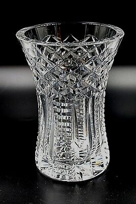 "Vintage Waterford Cut Crystal Vase 6"" Tall Perfect Condition Signed"
