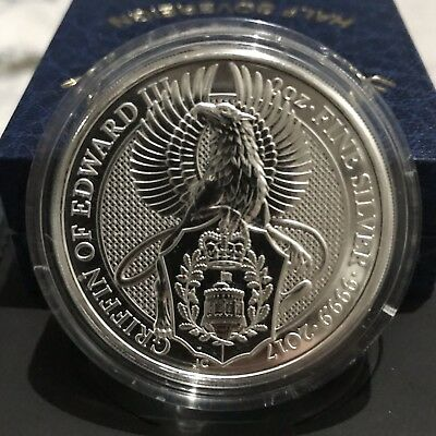 2017 2oz Queens Beasts Griffin 2 ounce Silver Bullion Coin unc: