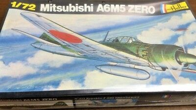 heller 1/72 265 mitsubishi a6m5 zero vintage model aircraft kit sealed