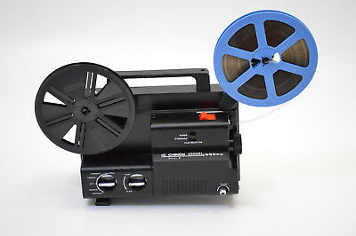 Chinon 2000GL Dual 8mm Super 8 Movie Projector SERVICED-Transfer-Watch Old Films