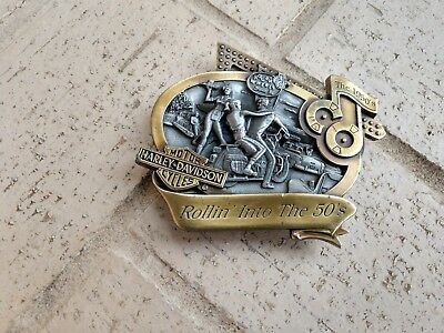 """Harley Davidson Limited Edition Buckle Decade Collection,""""Rollin' Into The 50's"""""""
