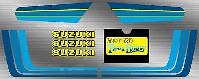 83' - 84' suzuki Trail Buddy ALT50 8pc Decals graphics sticker Set  Vintage