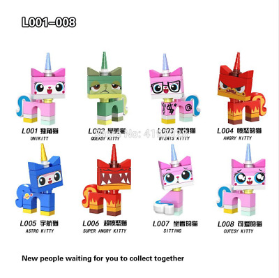 For Legoing Super Heroes Friends Movies Unikitty Angry Astro Queasy Biznis Kitty