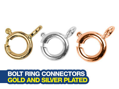 Bolt Rings from 6mm Size - Gold Plated | Silver Plated and More