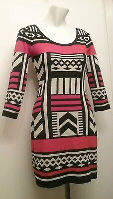 ac71615de27 Flying Tomato Sweater Dress Geometric 3 4 Sleeve Aztec Anthropologie Size  Small