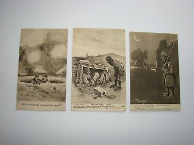 British / Canadian WW1 Military Post Cards, 3 x Bystander Fragments from France