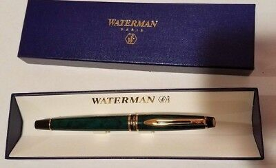 Waterman Expert II Rollerball - Prussian Green, Fine Tip, Very Good Condition